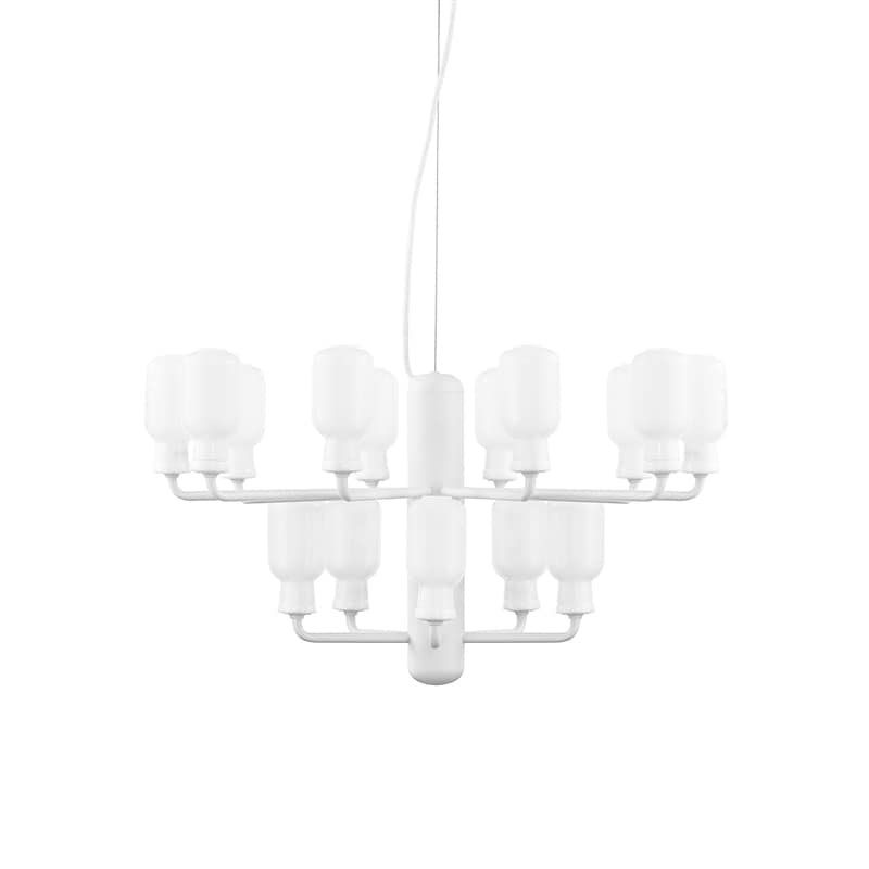 Amp chandelier S white