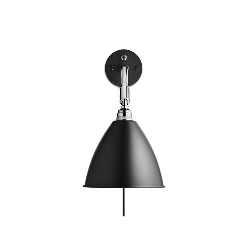 BL7 Vägglampa black/chrome