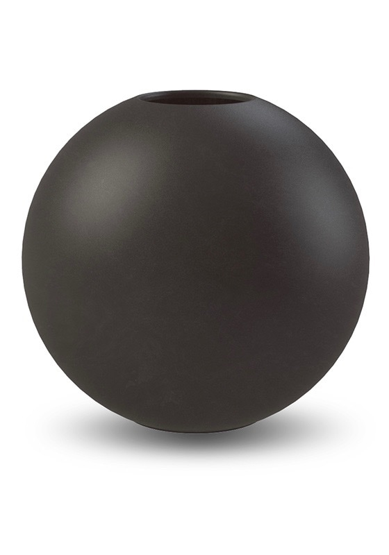 Ball Vase 20cm Black