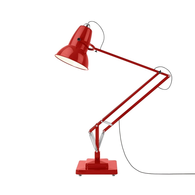 Original 1227 giant golvlampa outdoor crimson red