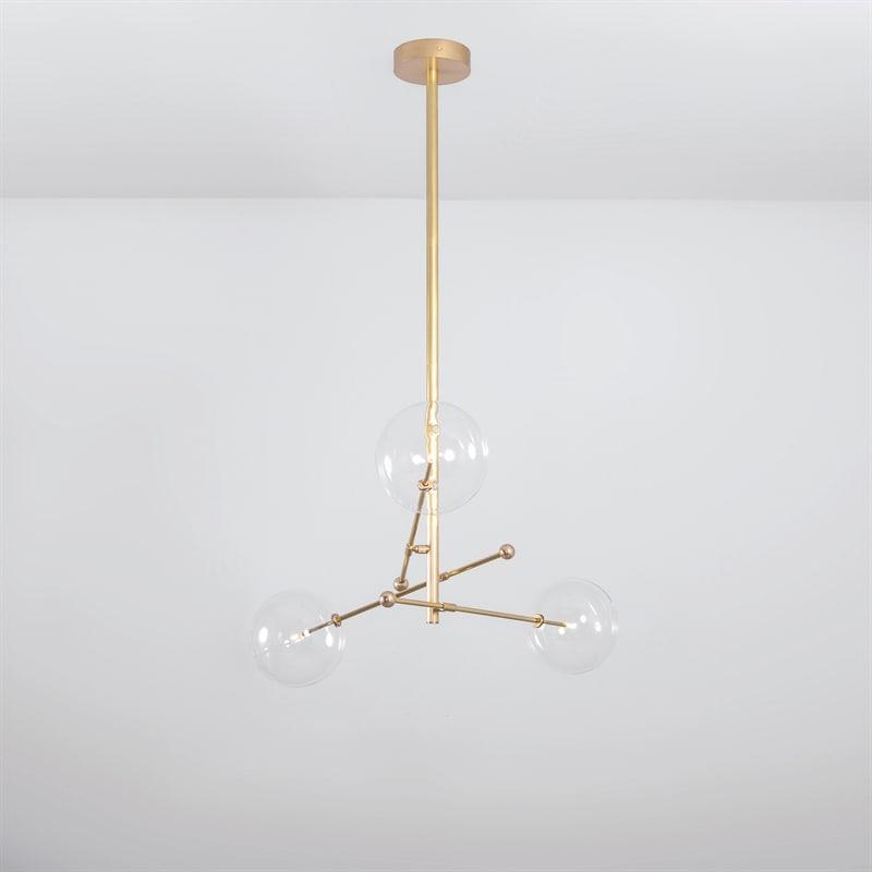 RD15 3 armad taklampa mässing Schwung Home Norrmalms Elektriska