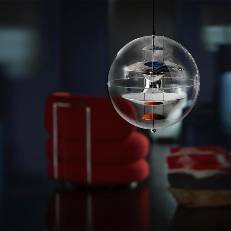 VP Globe 40 Taklampa krom Verpan Norrmalms Elektriska