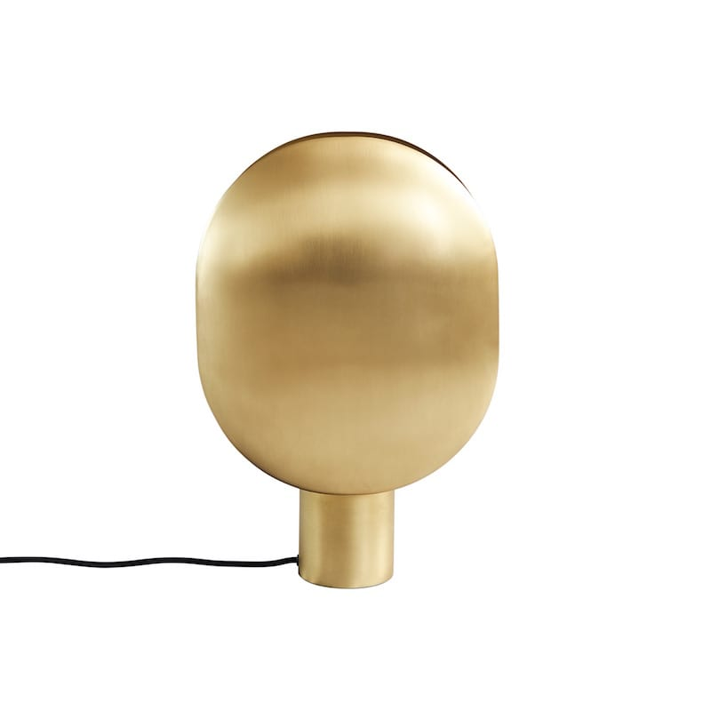 010046-1 CLAM TABLE LAMP BRASS