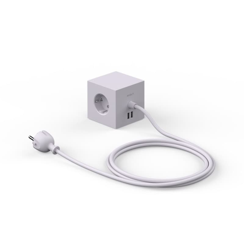 Square 1 USB magnet Gotland grey