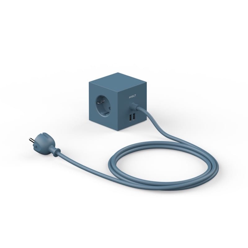 Square 1 USB magnet ocean blue