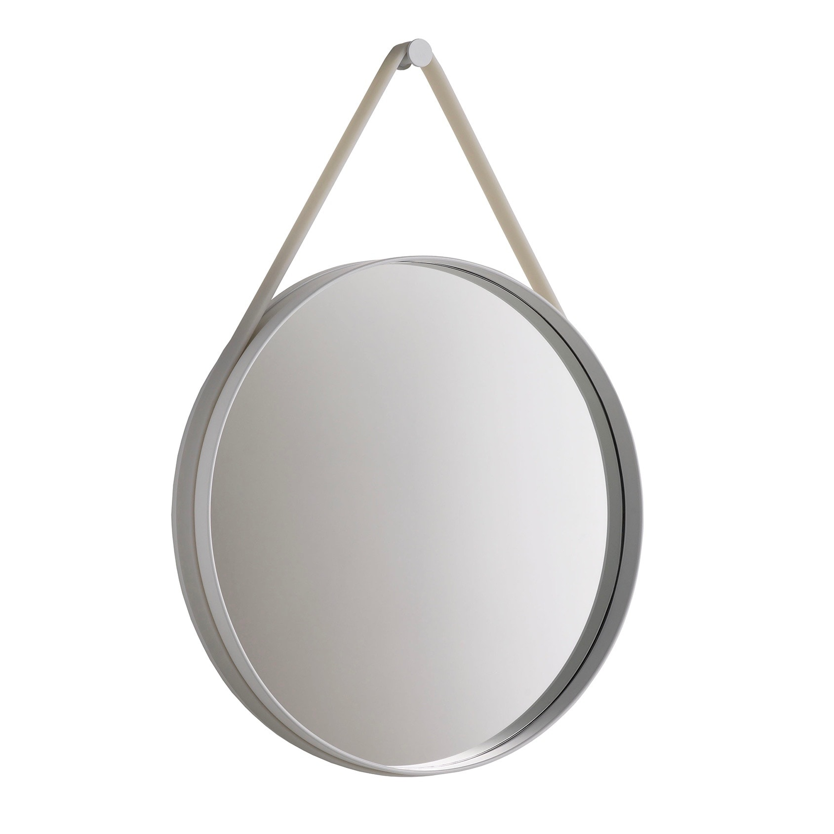 Strap mirror Ø50 grey