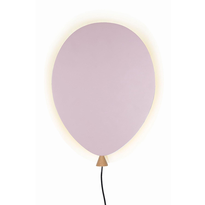 Ballon vägglampa rosa