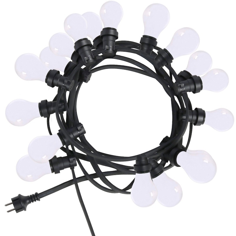 Bright light string 12M med opala ljuskällor/svart