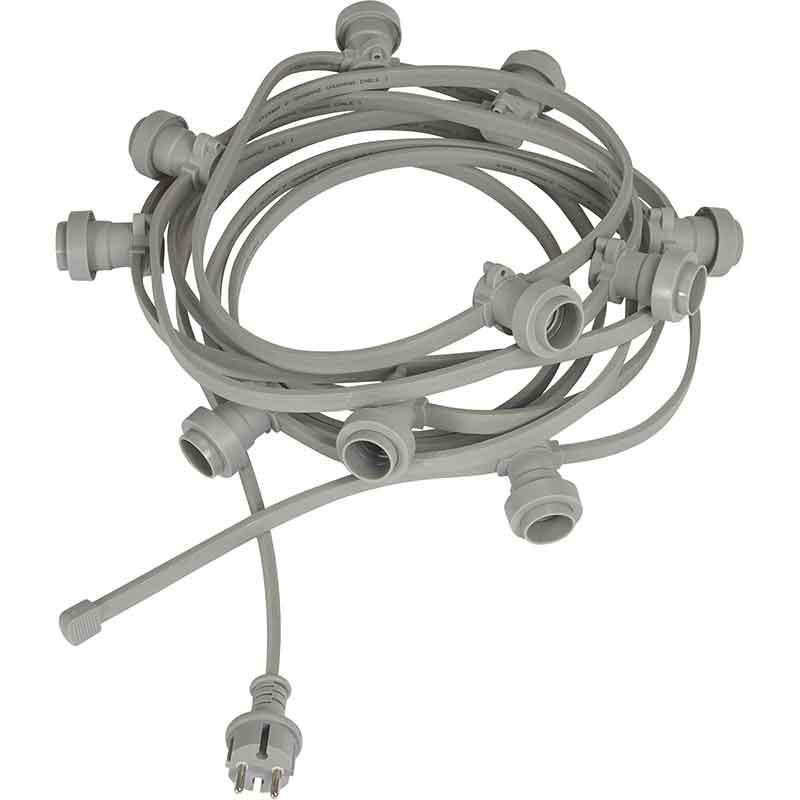 Bright light string 7M grå