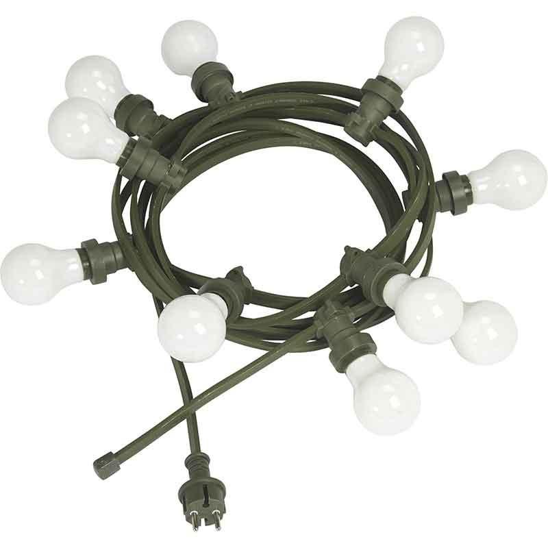Bright light string 7M med opala ljuskällor/grön