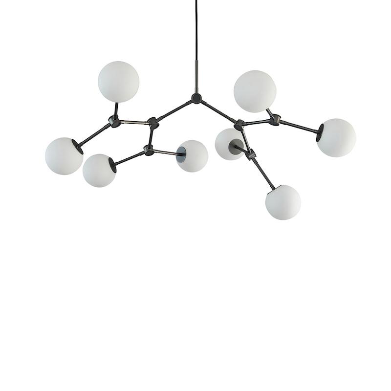 Drop taklampa bulb mini oxiderad aluminium