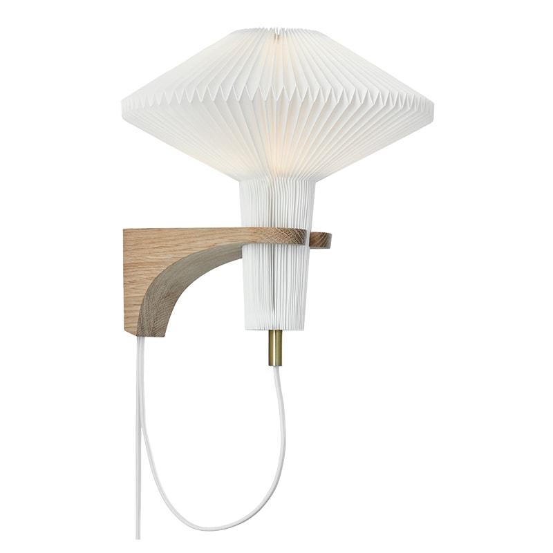 The mushroom 204 vägglampa ljus ek
