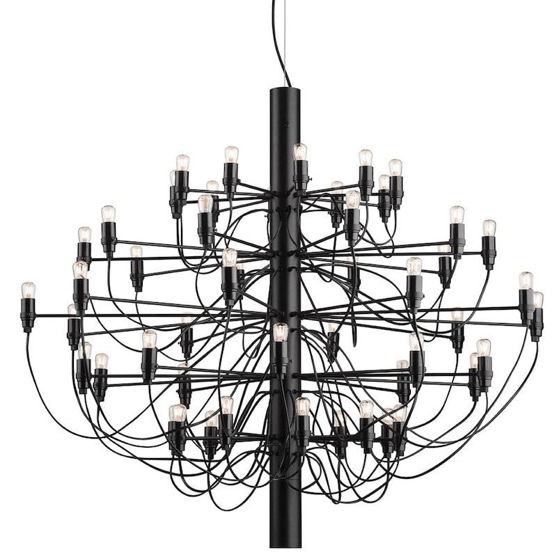2097/50 Sarfatti LED Taklampa svart
