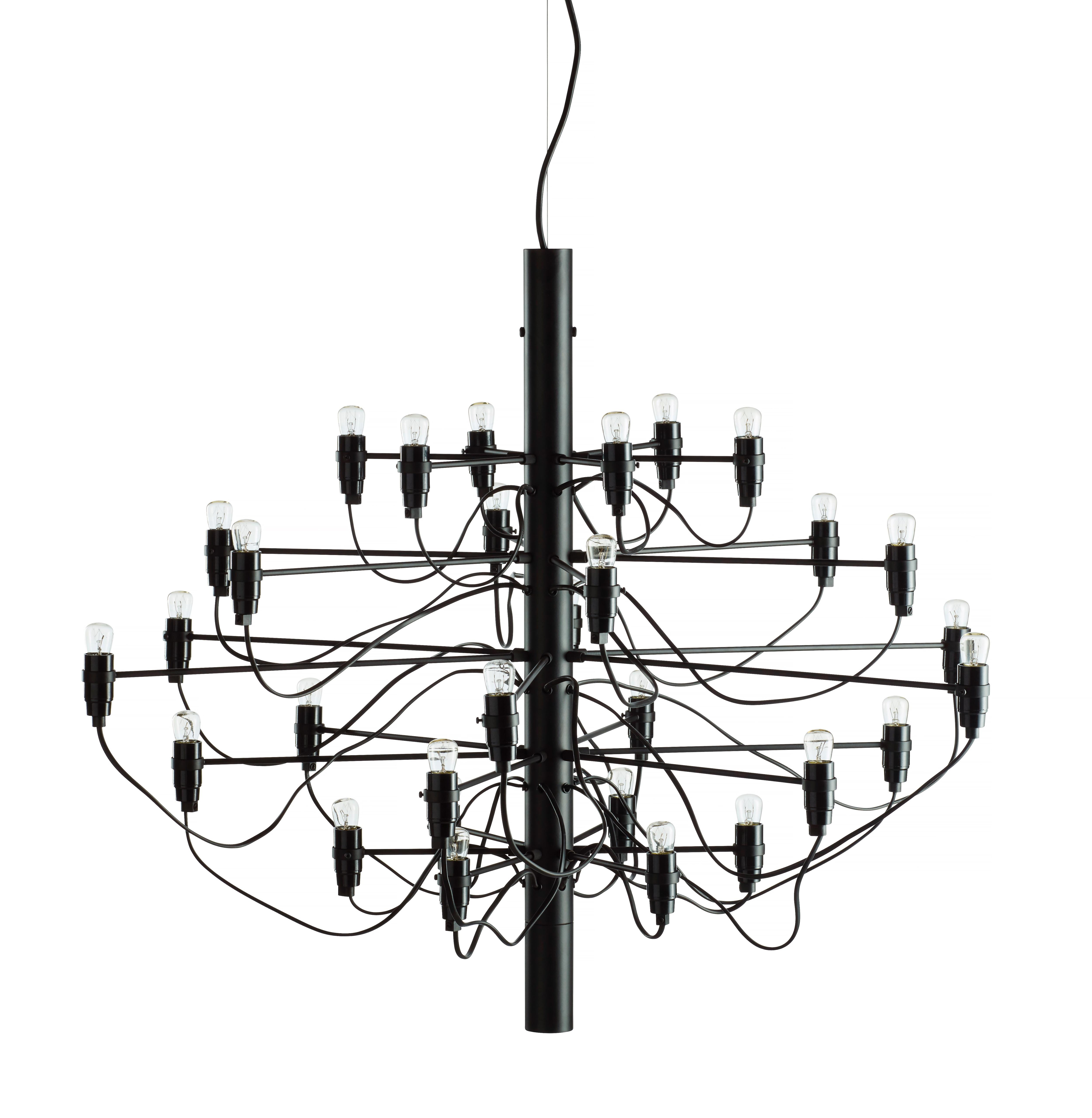 2097/30 Sarfatti LED Taklampa svart