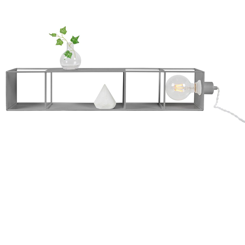 Shelfie Long vägglampa/hylla grå