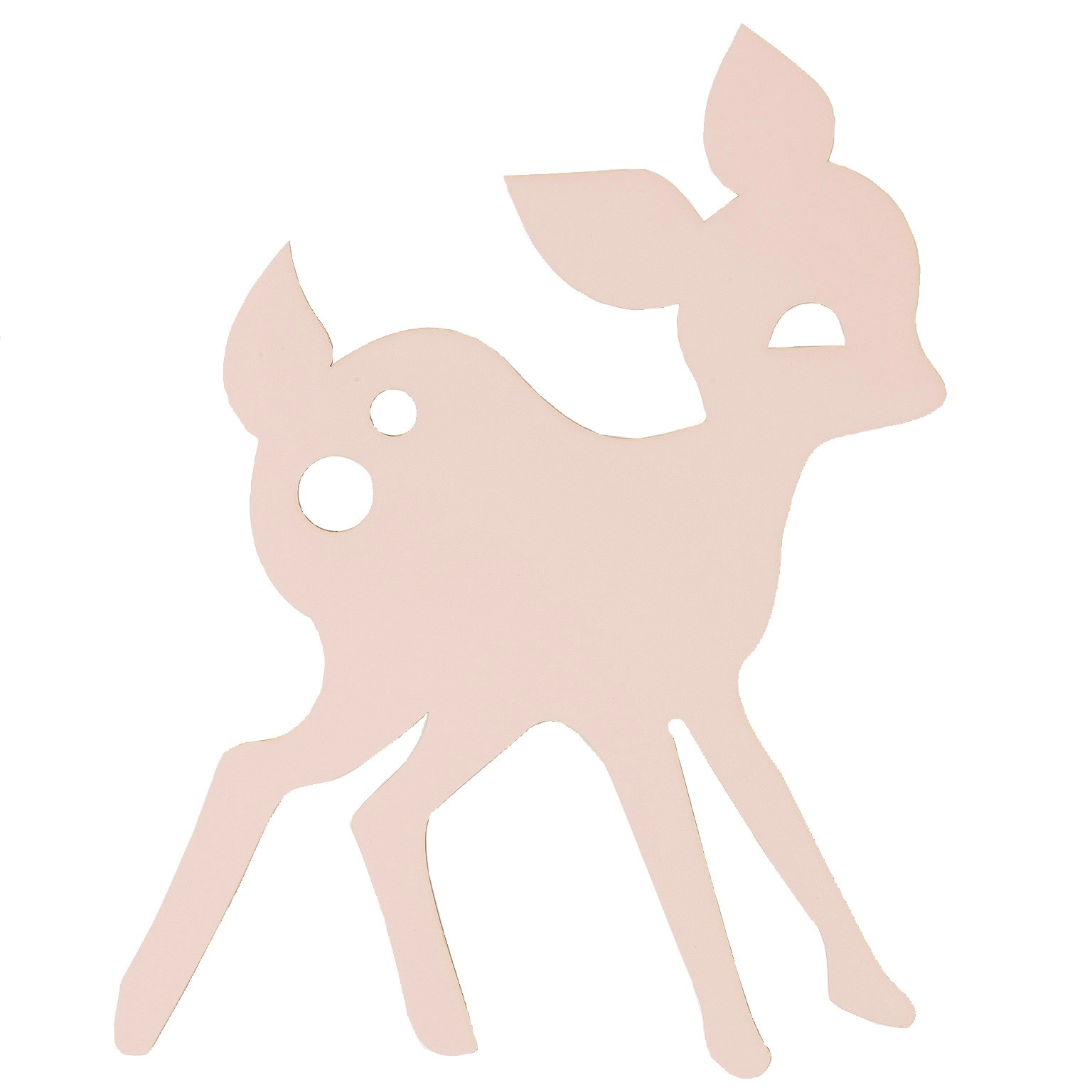 My deer lamp rose vägglampa