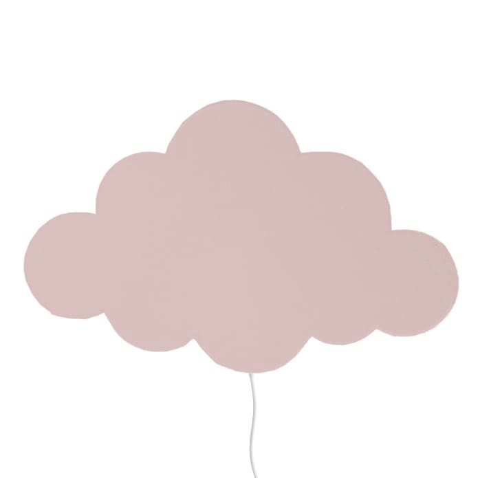 Cloud lamp rose vägglampa