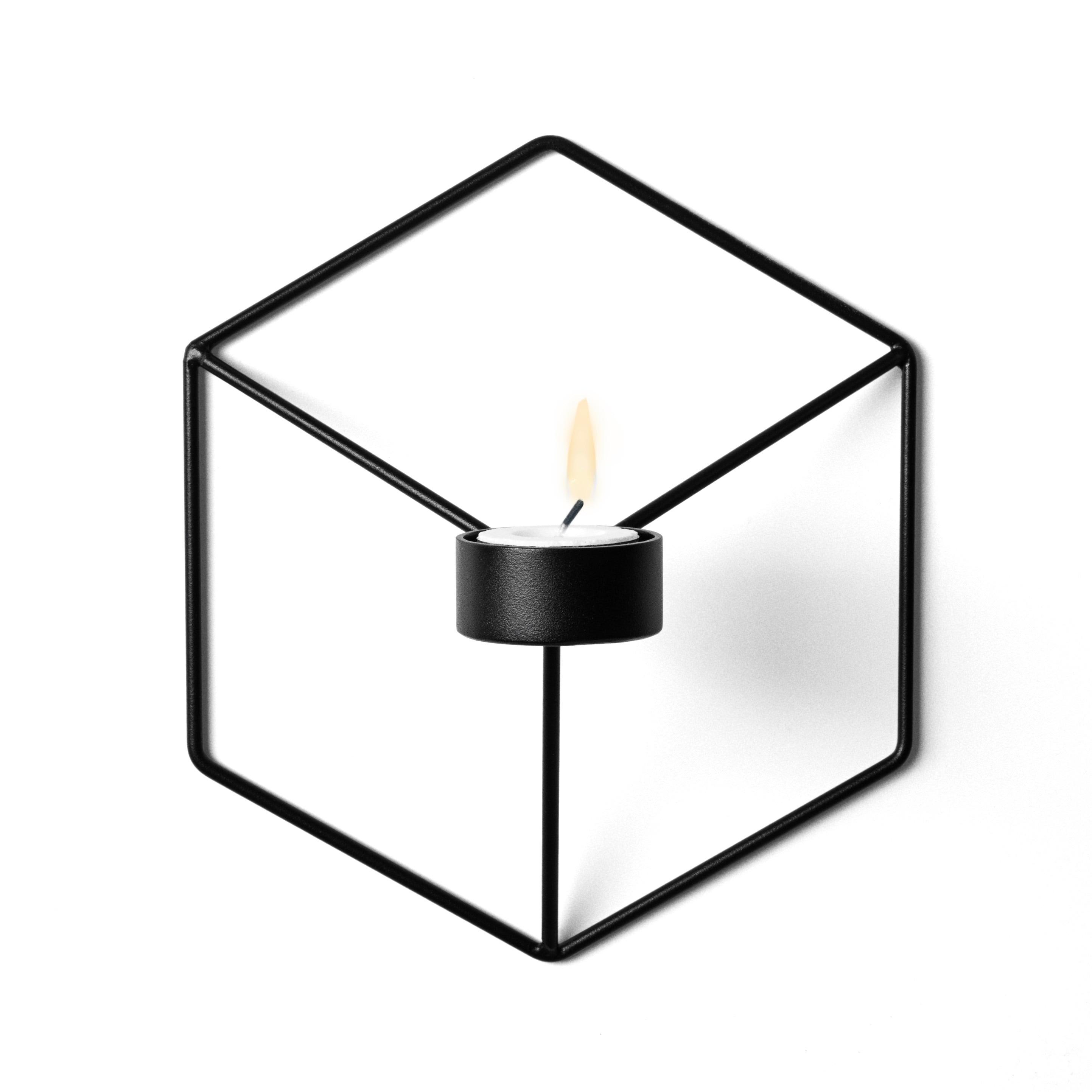 POV ljushållare vägg svart