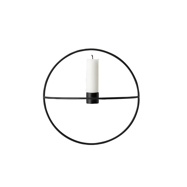 POV circle Ljushållare vägg s svart