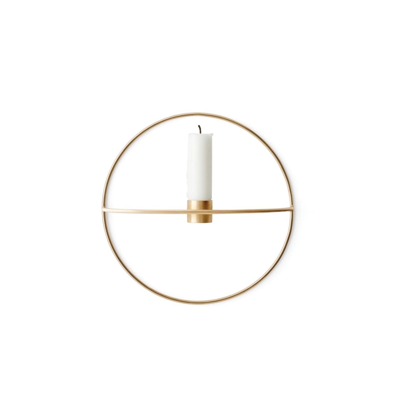 POV circle Ljushållare vägg s mässing