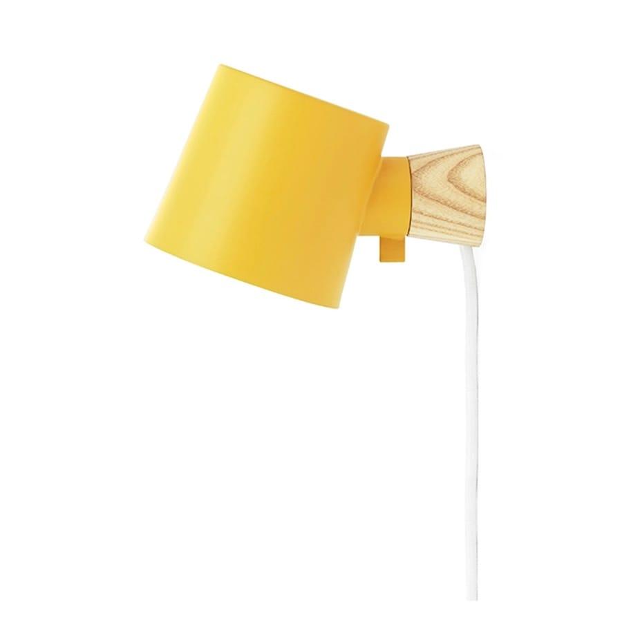 Rise Vägglampa yellow