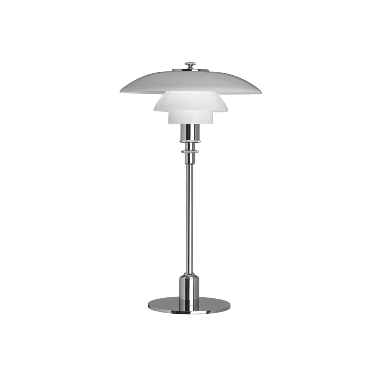 PH 2/1 Bordslampa glas/krom