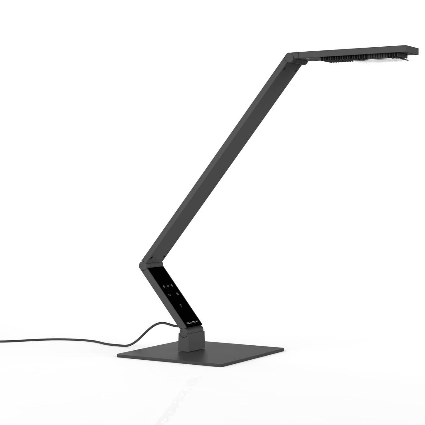 Linear bordslampa svart