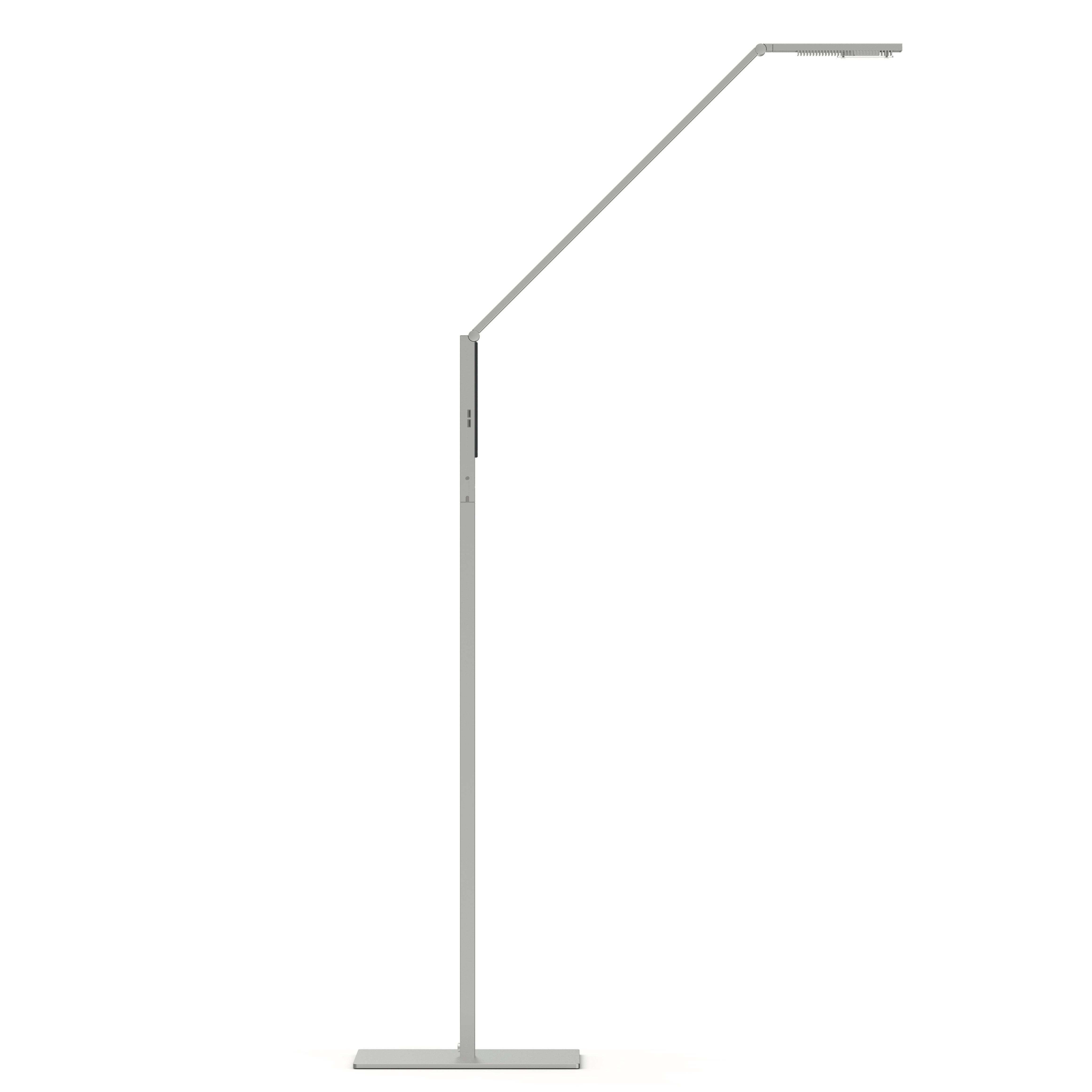 Linear golvlampa aluminium