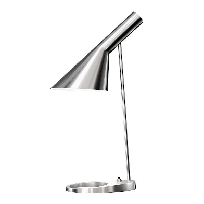 AJ bordslampa rostfritt stål