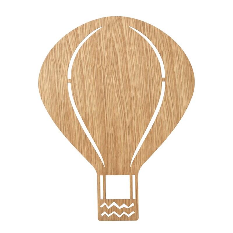 Air balloon lamp oiled oak vägglampa