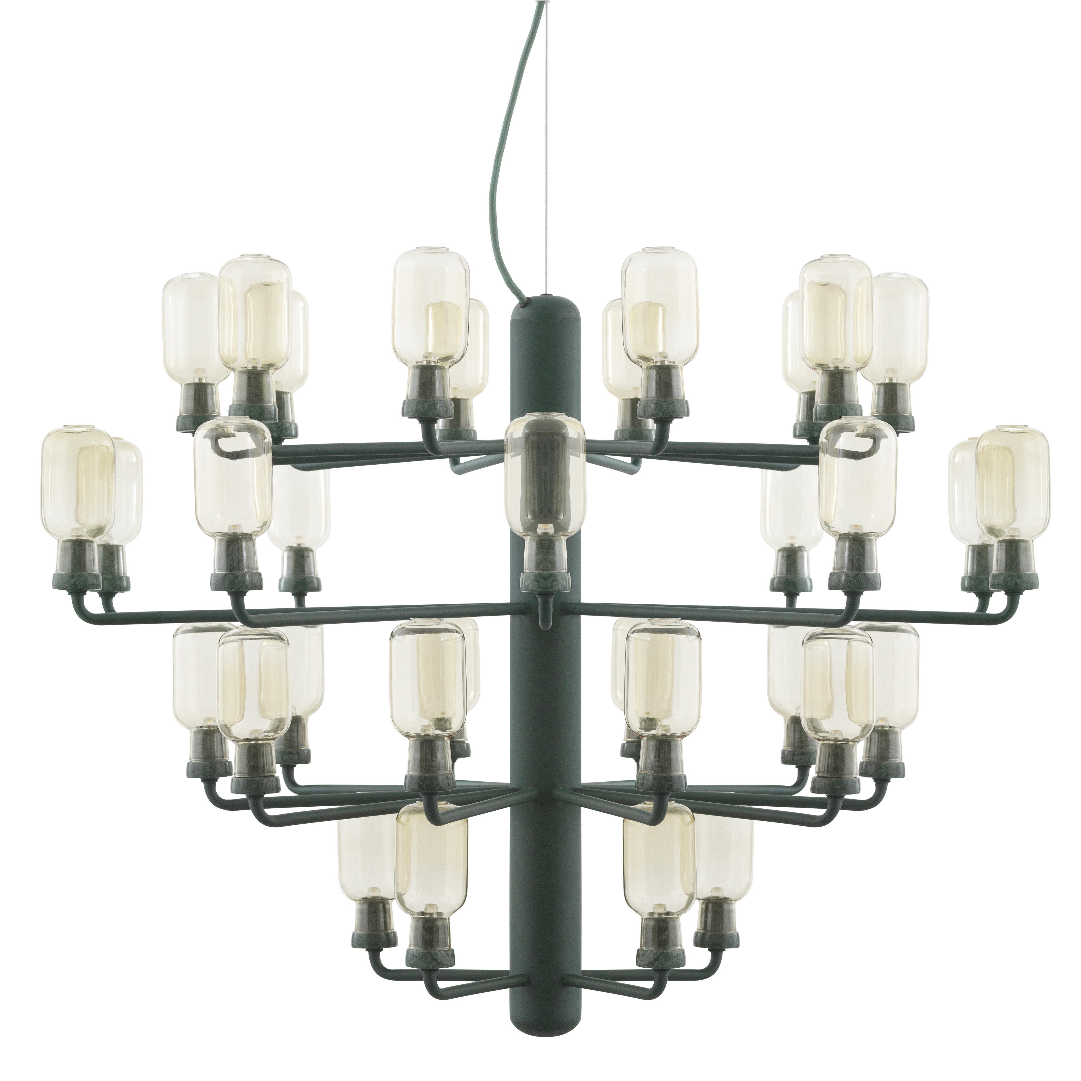 Amp chandelier L gold/green
