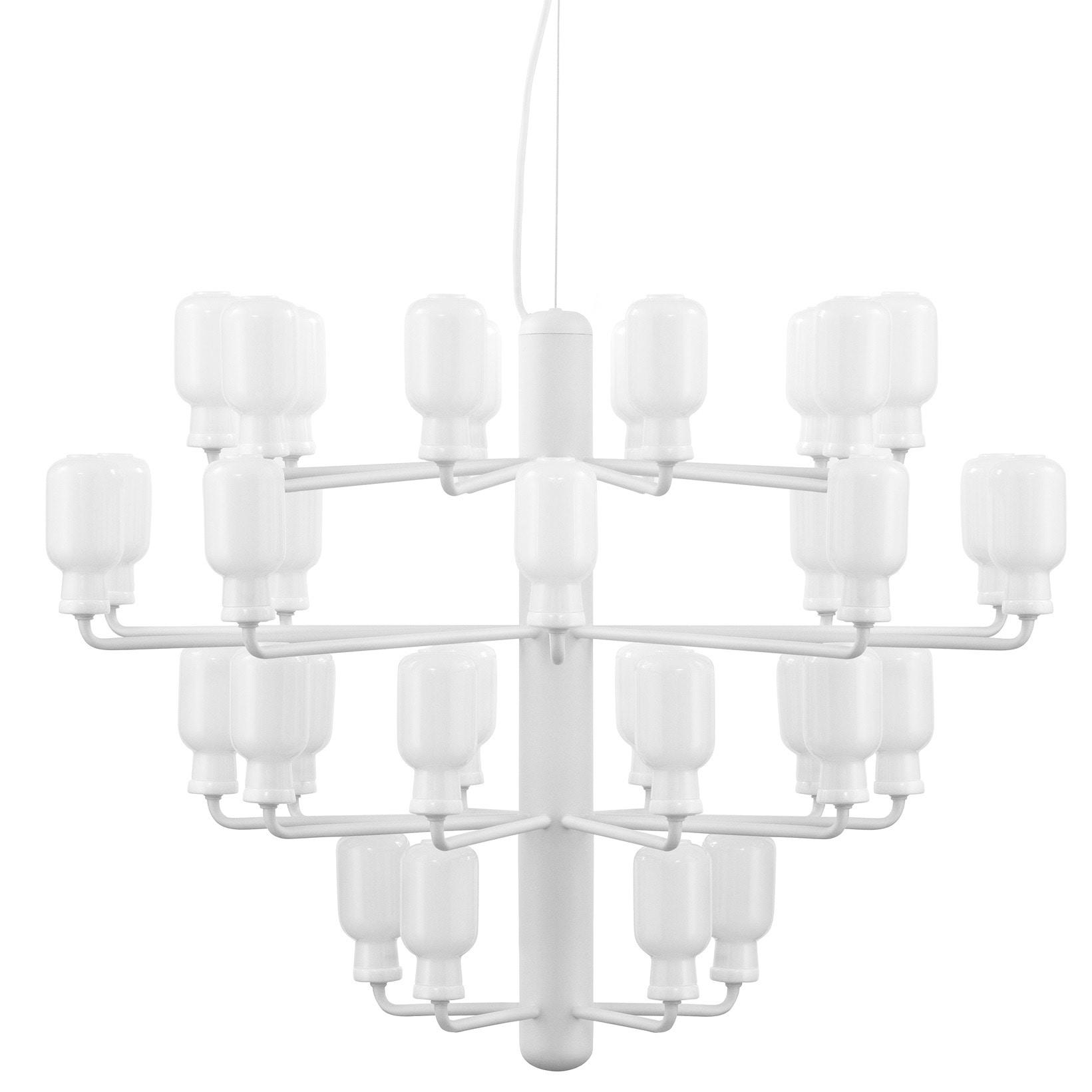 Amp chandelier L white