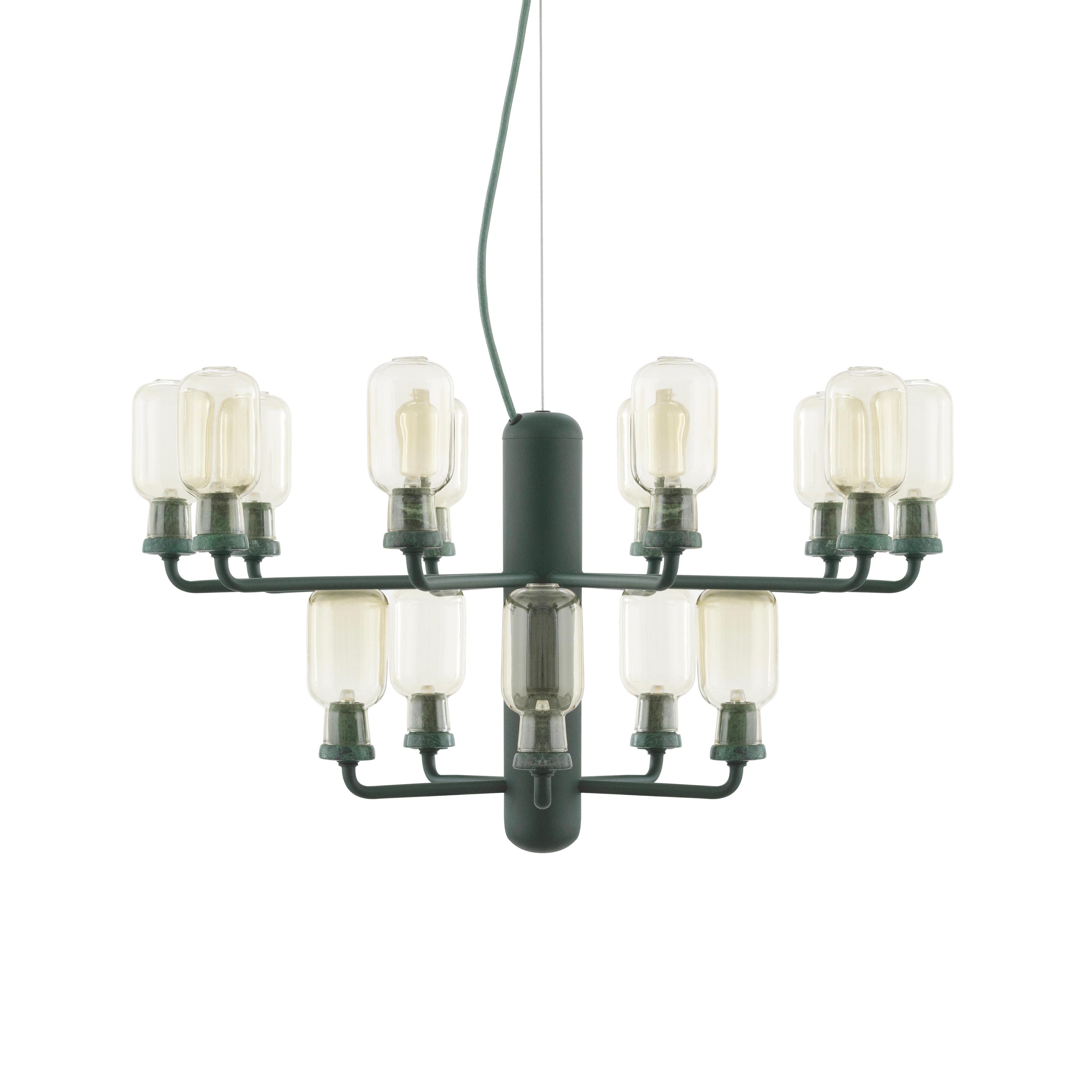 Amp chandelier S gold/green