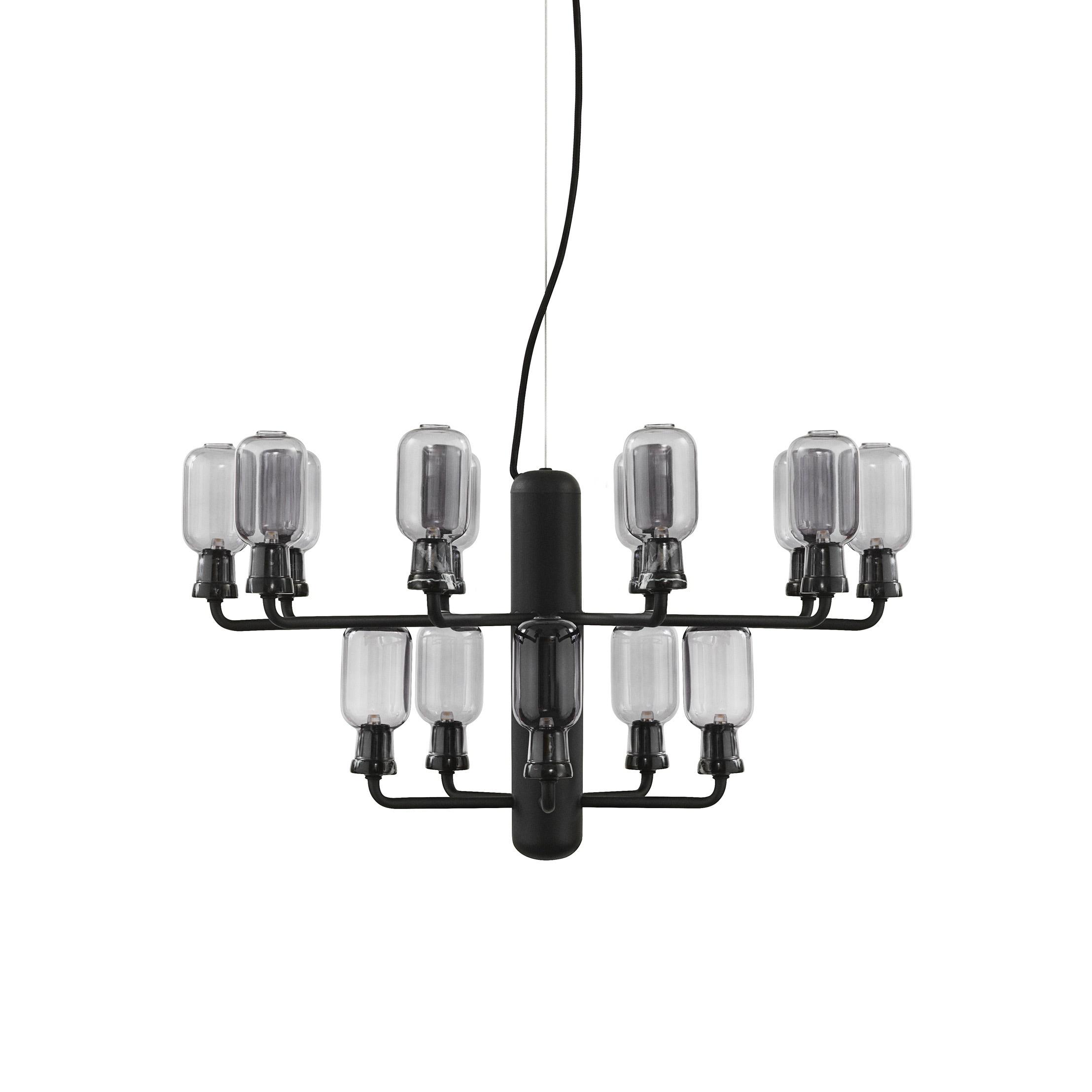 Amp chandelier S smoke/black