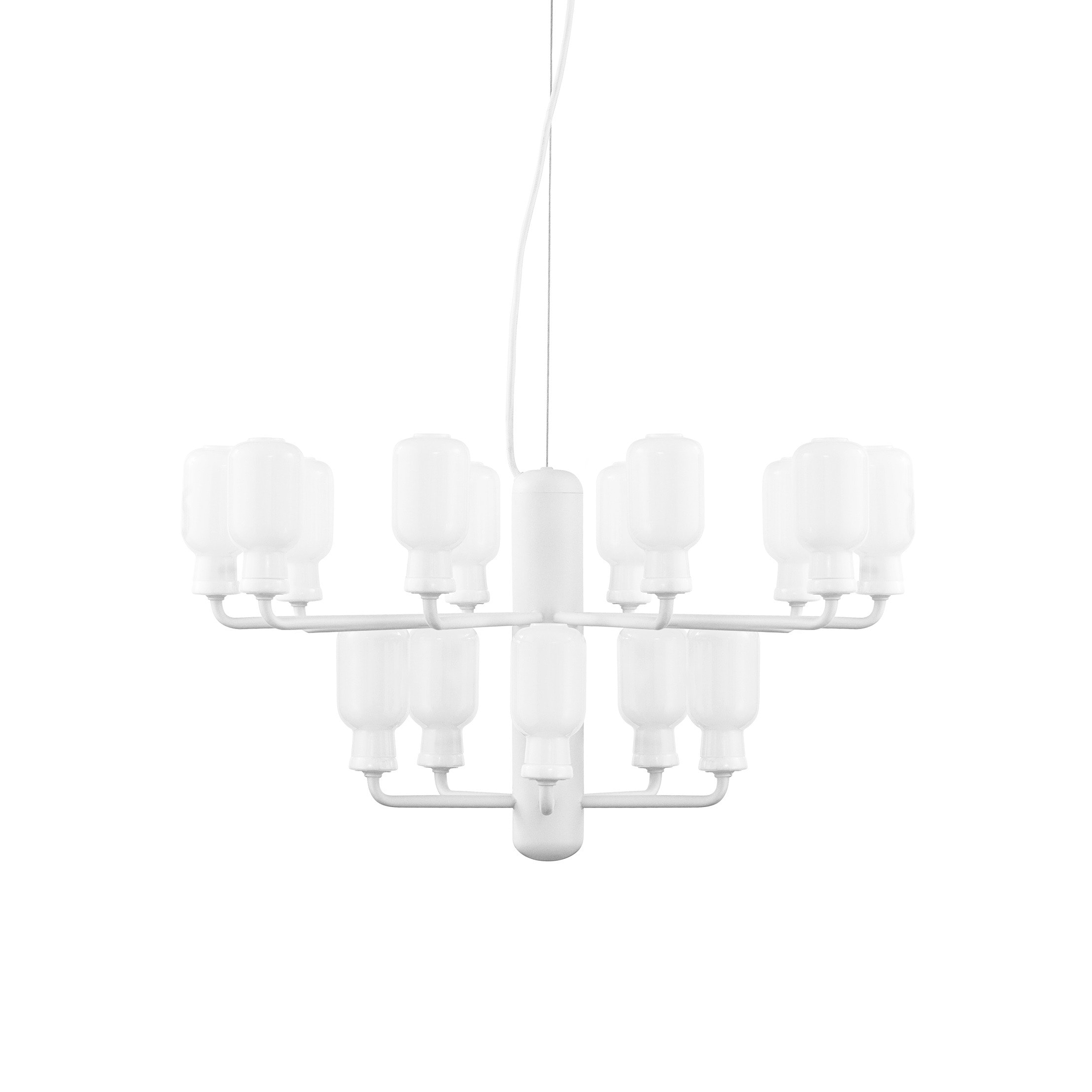 Amp chandelier S white