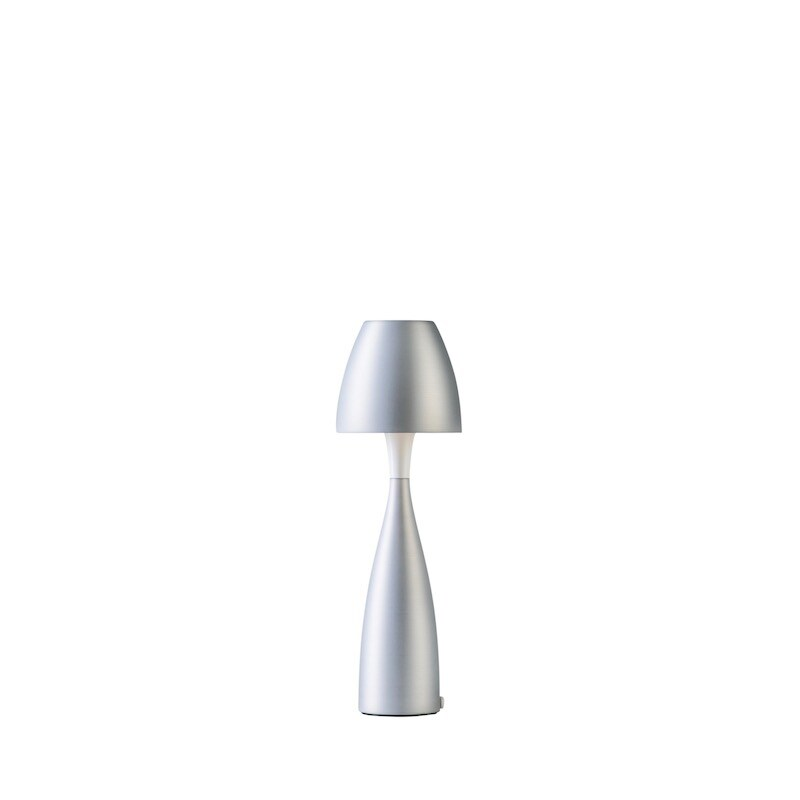Anemon liten bordslampa silveroxid