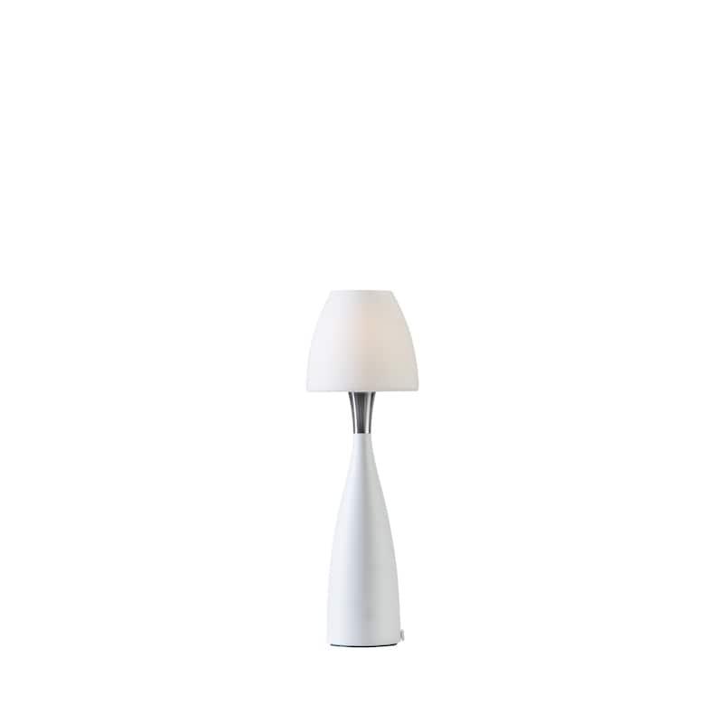Anemon liten bordslampa opalglas