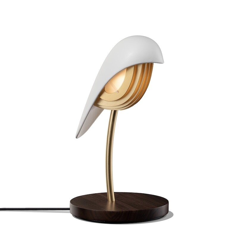 Bird bordslampa ivory white