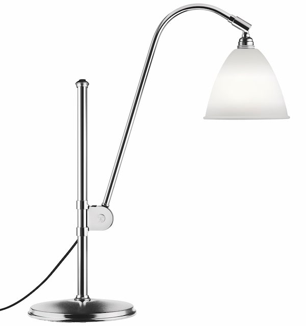 BL1 bordslampa Bone china/chrome