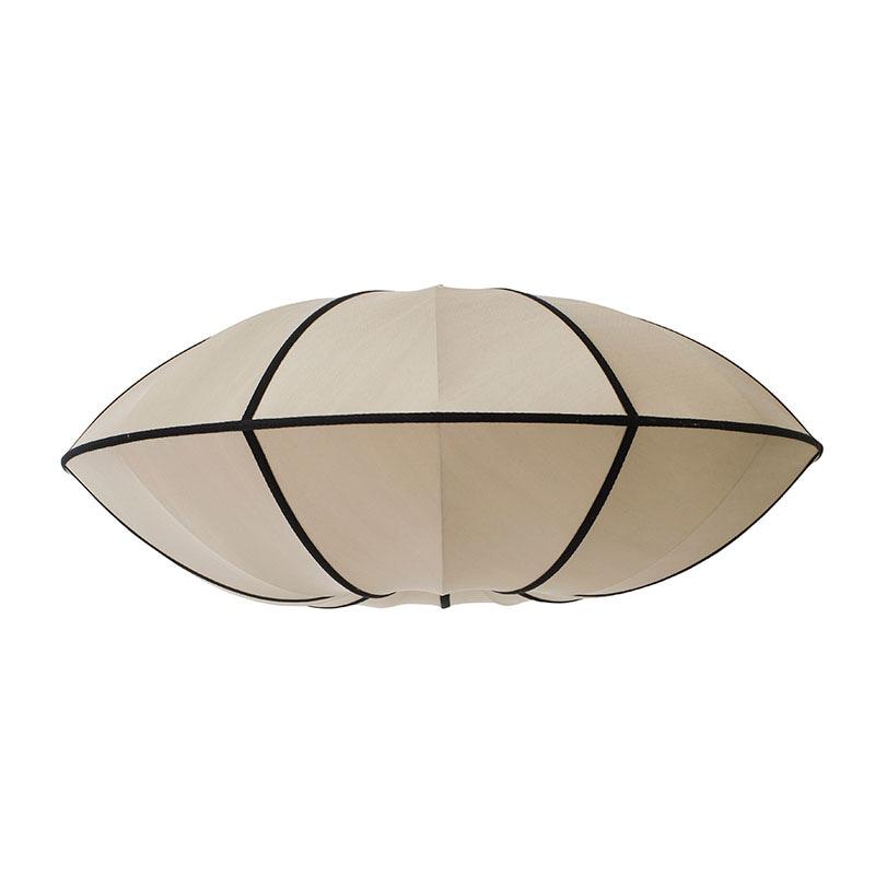 Indochina Ufo lampskärm kit white/black ribbon