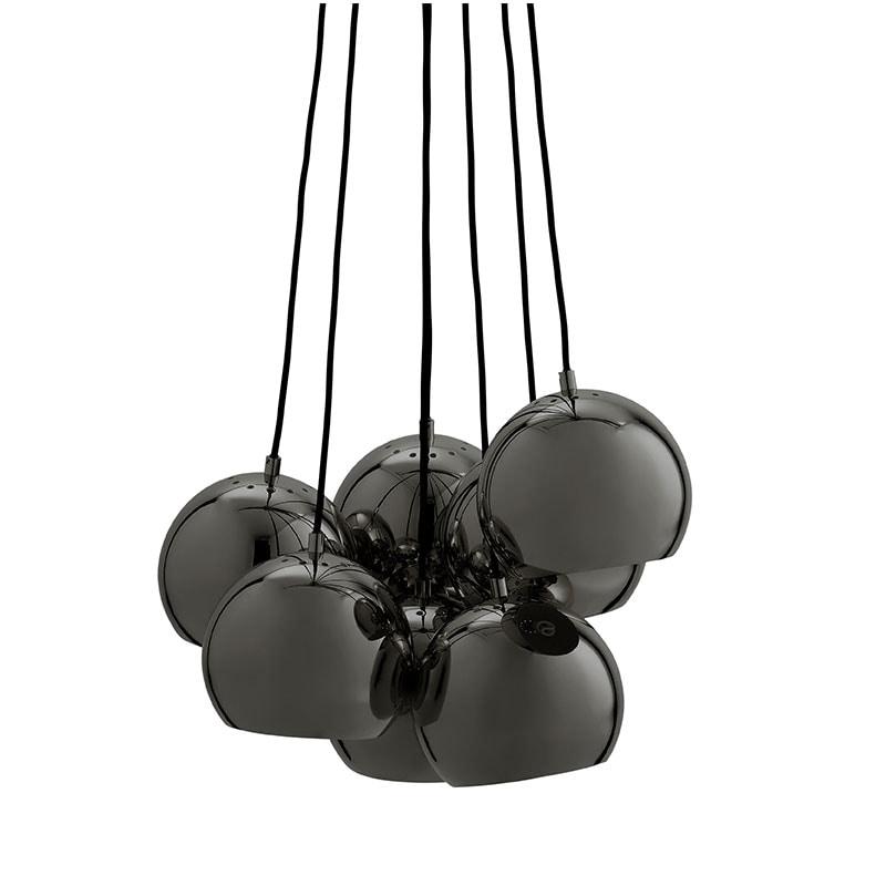 Ball multi taklampa blank svartkrom