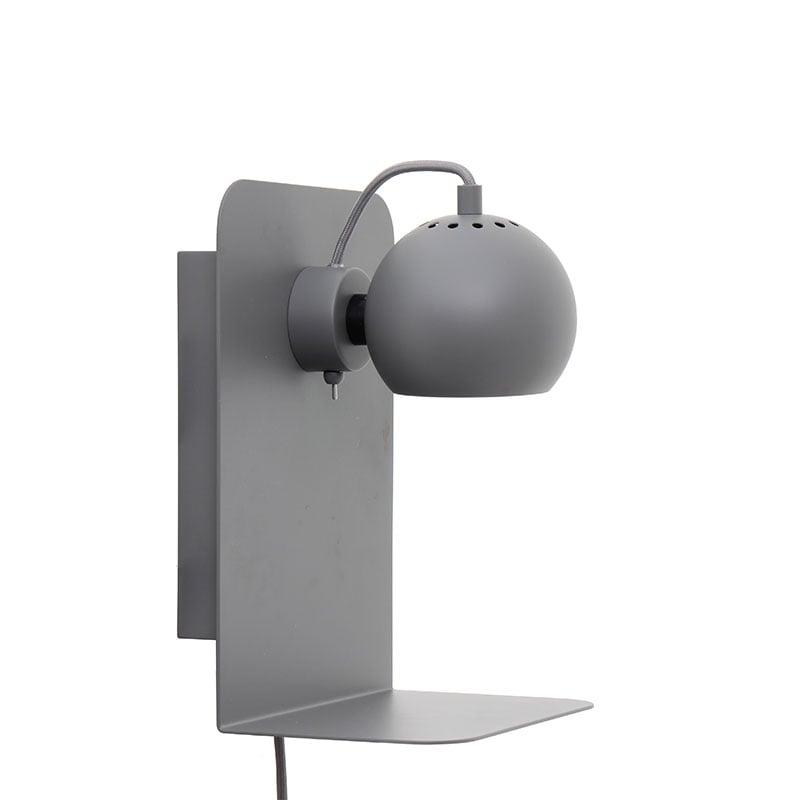 Ball USB vägglampa matt ljus grå