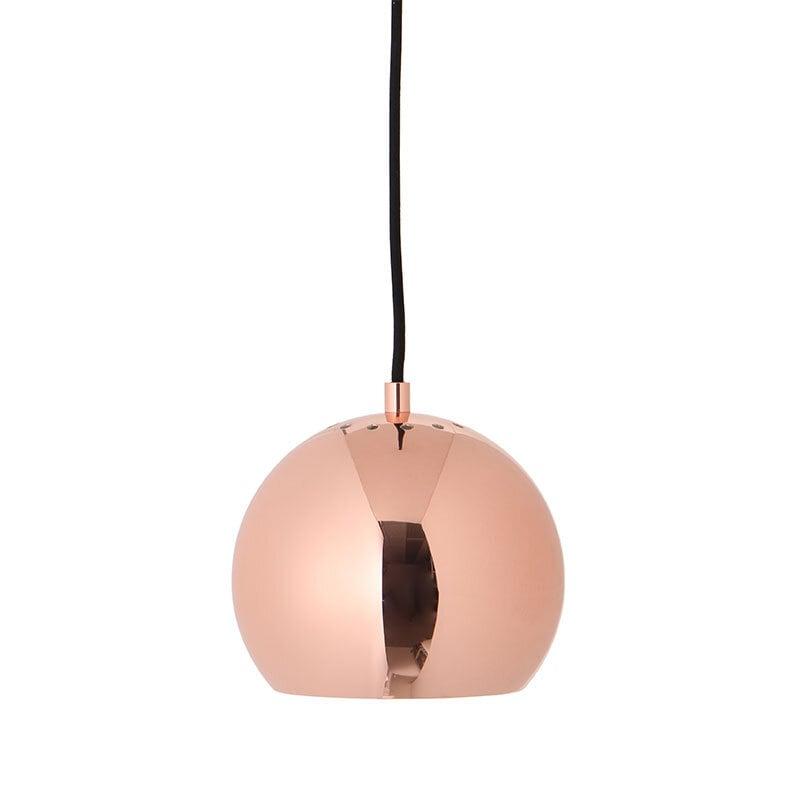 Ball Ø18 taklampa blank koppar