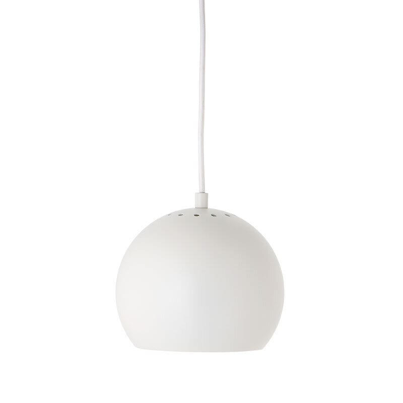 Ball Ø18 taklampa matt vit