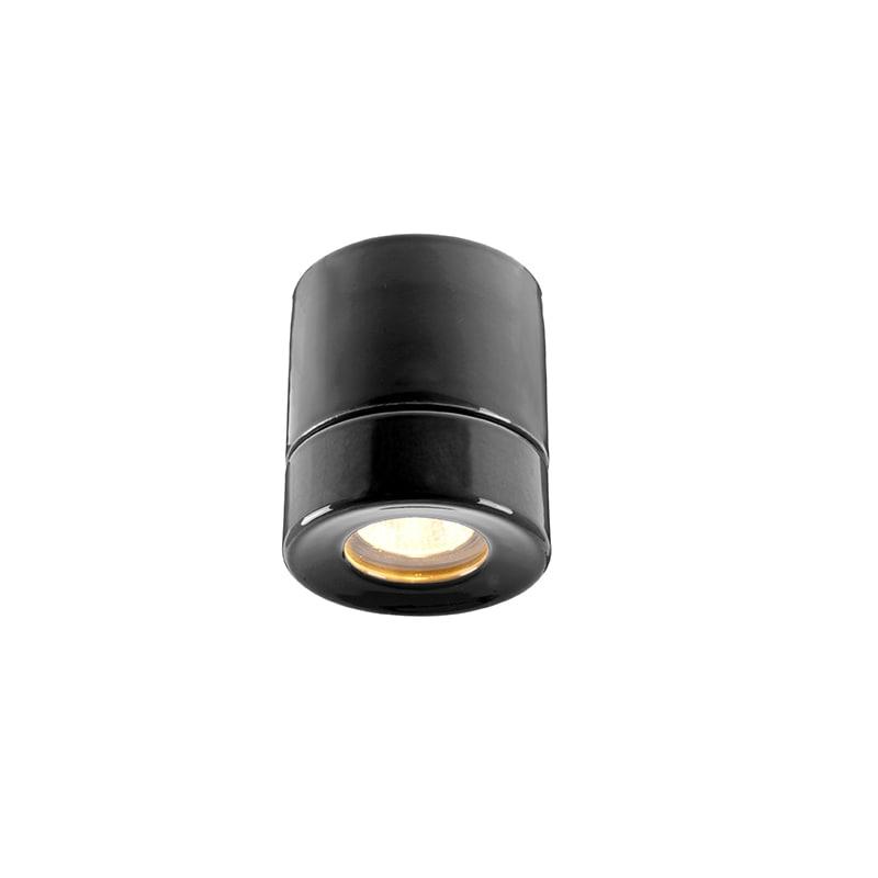 Light On Downlight taklampa bastu svart IP44