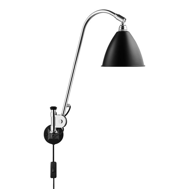 BL6 Vägglampa black/chrome