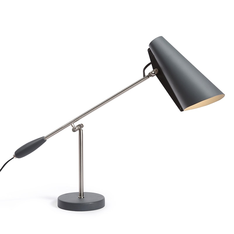 Birdy Bordslampa grå/stål
