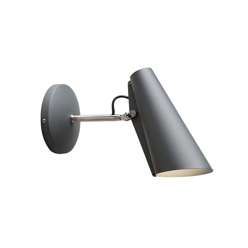 Birdy Short Vägglampa grå/stål