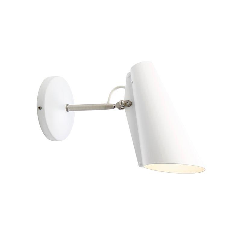 Birdy Short Vägglampa vit/stål