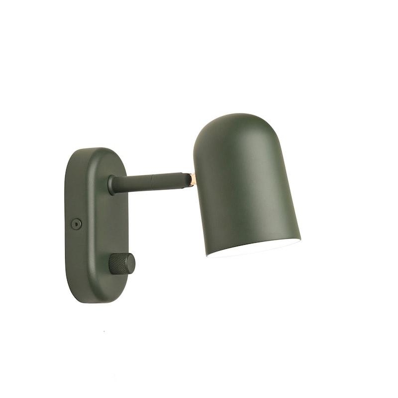 Buddy Vägglampa mörk grön